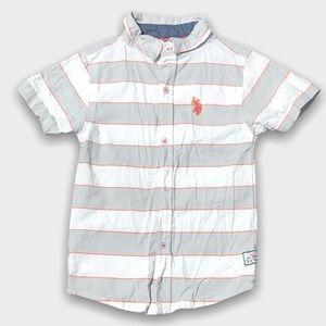 U.S Polo Assn White Short Sleeve Button Down